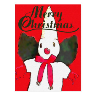 Tarjeta del muñeco de nieve de Nola Postales