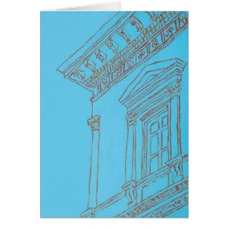 Tarjeta del museo del edificio