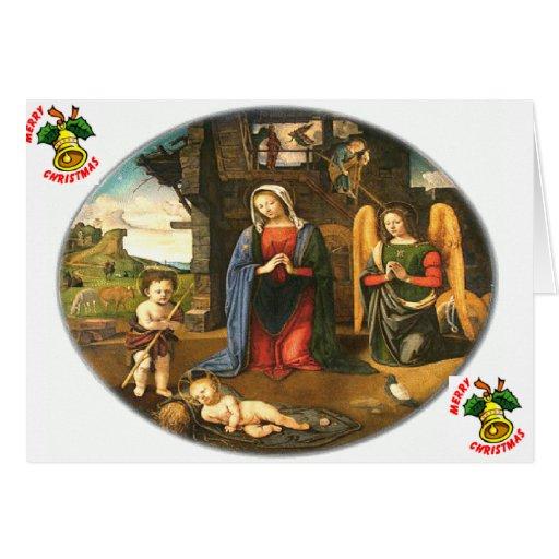 Tarjeta del nacimiento del Jesucristo