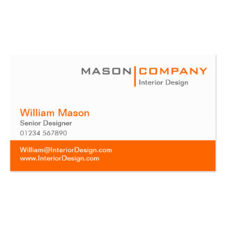 Tarjeta del naranja y blanca de visita corporativa tarjetas de visita