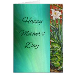 Tarjeta del narciso del día de madre