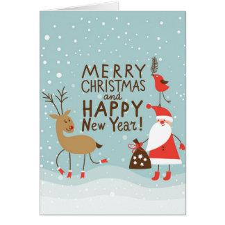 Tarjeta del navidad del saludo y del Año Nuevo
