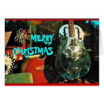 Tarjeta del navidad (guitarra)