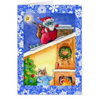 Tarjeta del navidad o del día de fiesta de Santa