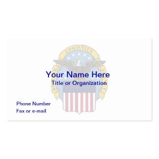 Tarjeta del negocio de representación de la logíst tarjetas de visita