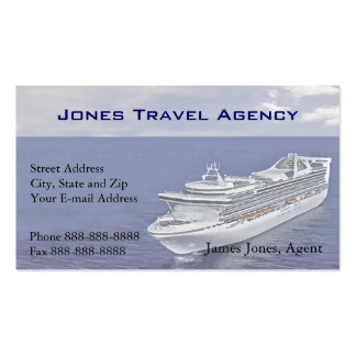 Tarjeta del negocio de representación del barco de tarjeta personal
