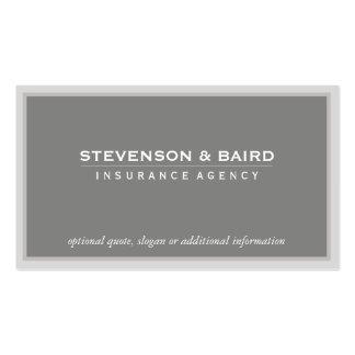 Tarjeta del negocio de representación del seguro e plantilla de tarjeta personal