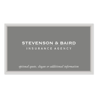 Tarjeta del negocio de representación del seguro tarjetas de visita