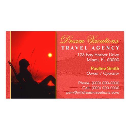 Tarjeta del negocio de representación del viaje tarjetas personales