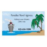 Tarjeta del negocio de representación del viaje tarjeta personal