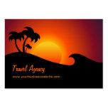 Tarjeta del negocio de representación del viaje plantillas de tarjetas de visita