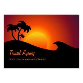 Tarjeta del negocio de representación del viaje tarjetas de visita grandes