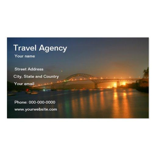 Tarjeta del negocio de representación del viaje plantilla de tarjeta de visita