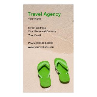 Tarjeta del negocio de representación del viaje