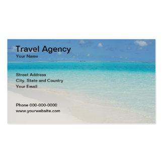 Tarjeta del negocio de representación del viaje tarjetas de visita