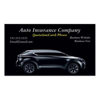 tarjeta del negocio de seguros autos tarjetas de visita