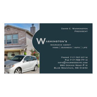 Tarjeta del negocio de seguros tarjetas de visita