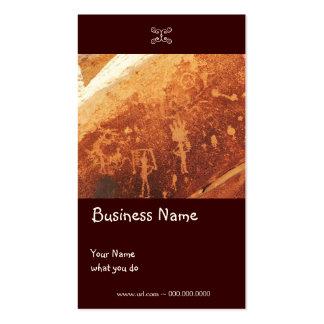 Tarjeta del negocio/del pendiente del petroglifo plantilla de tarjeta de negocio
