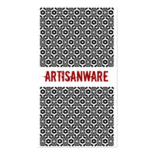 tarjeta del negocio/del perfil de Artisanware del  Tarjetas De Visita