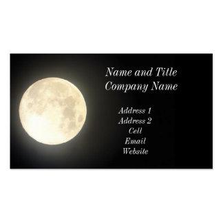 Tarjeta del negocio/del perfil de la Luna Llena Tarjetas De Visita