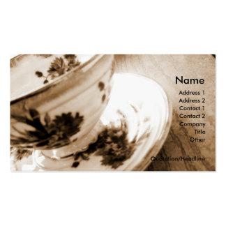 Tarjeta del negocio/del perfil de la taza de té tarjetas de visita
