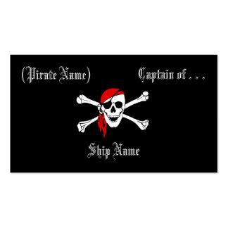 Tarjeta del negocio/del perfil del pirata tarjetas de visita
