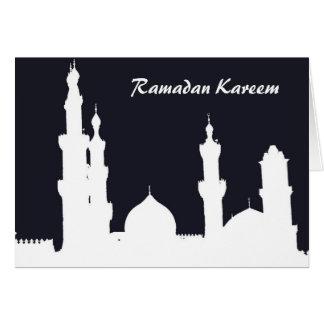 Tarjeta del negro de la mezquita del Ramadán