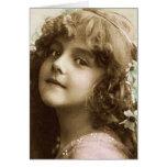 tarjeta del niño del vintage