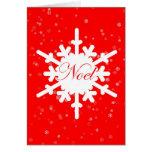 Tarjeta del Noel-Navidad - escama de la nieve