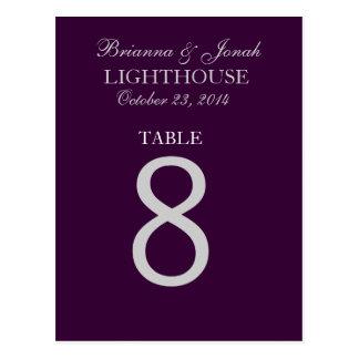 Tarjeta del número de la tabla de la bodas de plat tarjeta postal