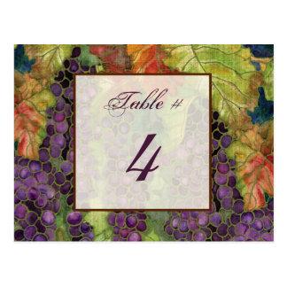 Tarjeta del número de la tabla de la hoja de la uv tarjetas postales