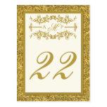 Tarjeta del número de la tabla de la MIRADA del br Tarjeta Postal