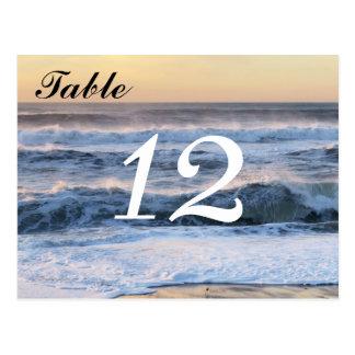 Tarjeta del número de la tabla de las olas postales