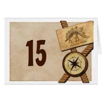 Tarjeta del número de la tabla del boda de la aven