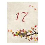 Tarjeta del número de la tabla del boda de la jera tarjetas postales