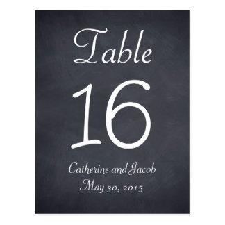 Tarjeta del número de la tabla del boda de la mira postales