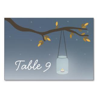 Tarjeta del número de la tabla del boda de la vela
