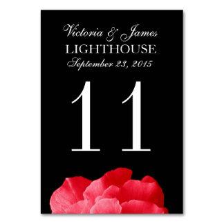 Tarjeta del número de la tabla del boda del rosa r