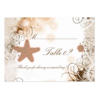 Tarjeta del número de la tabla del ~ del boda del tarjetas de visita grandes