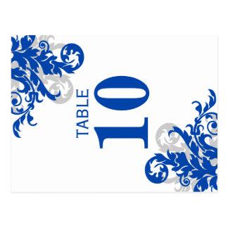 Tarjeta del número de la tabla del Flourish del Postal