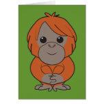 Tarjeta del orangután de Sumatran
