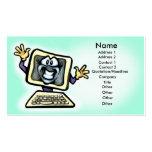 Tarjeta del ordenador tarjeta de visita