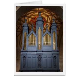 Tarjeta del órgano de la abadía de Tewkesbury