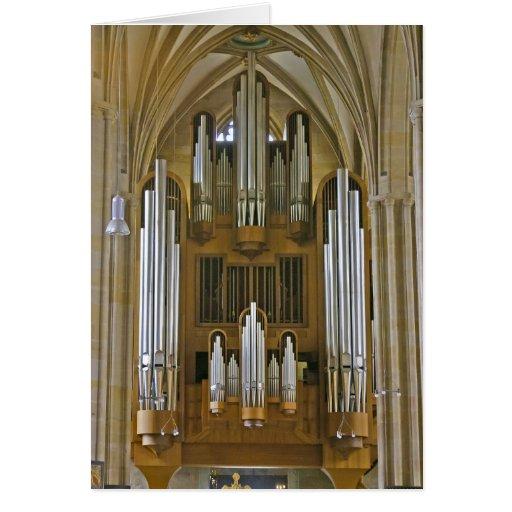 Tarjeta del órgano de la catedral de Erfurt