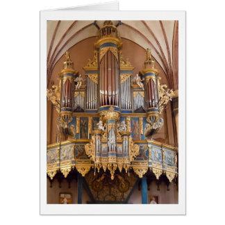 Tarjeta del órgano de la catedral de Frombork