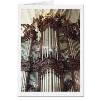 Tarjeta del órgano de la catedral de Oliwa