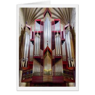 Tarjeta del órgano de la catedral de St Giles