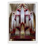 Tarjeta del órgano de la catedral de St Giles (ver