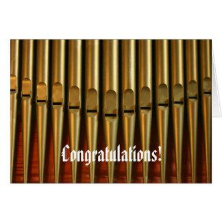 Tarjeta del órgano de la enhorabuena
