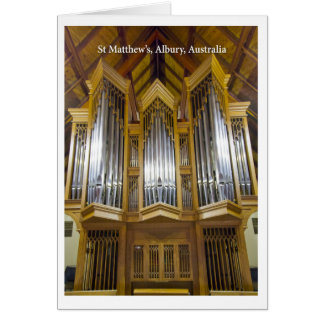 Tarjeta del órgano de la iglesia de Albury